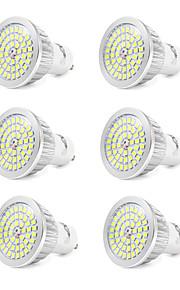 7W GU10 LED-spotpærer 48 SMD 2835 600 lm Kjølig hvit V 6 stk.