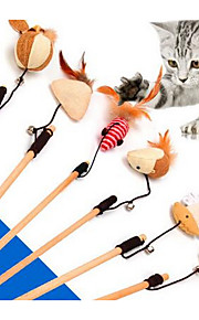 Игрушка для котов Игрушки для животных Интерактивный Дразнилки Прочный Пластик Ткань Кофейный