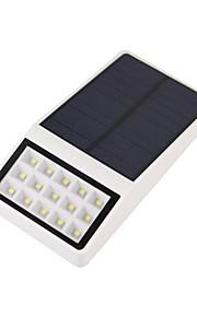 1 stk super lyse sollys 15led værbestandig lysbevegelsessensor utendørs lamper for gårdhave dekk hage med tre moduser