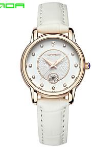 SANDA Mulheres Relógio de Moda Japanês Quartzo Quartzo Japonês Couro Banda Pendente Casual Luxuoso Preta Branco Vermelho Marrom