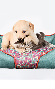 Gato Perro Camas Mascotas Colchonetas y Cojines Suave Rojo Azul