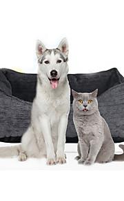 Gato Cachorro Camas Animais de Estimação Capachos e Alcochoadas Macio Cinzento