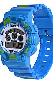 Infantil Relógio Esportivo Relogio digital Chinês Digital Silicone Banda Preta Azul Laranja
