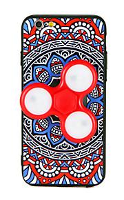 För iphone 7 fall fidget spinner avtagbar ledd blinkande bakväska 3d tecknad film mandara hård pc för Apple iPhone 7 plus 6 6s plus 6 plus