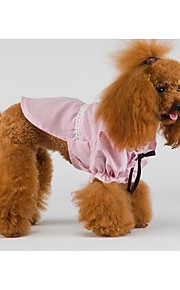 Hundar Klänningar Hundkläder Sommar Vår/Höst Britisk Gulligt Mode Ledigt/vardag Blå Rosa