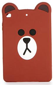 Pour apple ipad mini 123/4 étui en carton couverture arrière en carton 3d carré silicone doux
