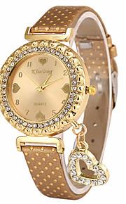 Mulheres Relógio de Moda Relógio de Pulso Único Criativo relógio Relógio Casual Quartzo PU Banda Heart Shape Pendente Legal Casual Luxuoso