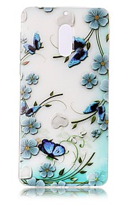 Para Carcasa Funda Transparente En Relieve Diseños Cubierta Trasera Funda Flor Mariposa Suave TPU para Nokia Nokia 6