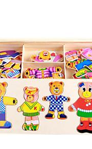 puslespil GDS-sæt Puslespil Puslespil og logisk tænkning legetøj Byggesten Gør Det Selv Legetøj Firkantet 1 Træ Hobbylegetøj