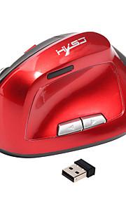 Ratón ergonómico vertical inalámbrico 6d ratones recargables ratones 2.4ghz usb ratón de juegos ópticos 2400dpi para pc portátil