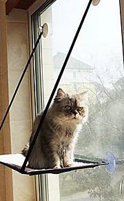 ネコ ベッド ペット用 マット/パッド 純色 折り畳み式 ブラック