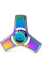 Fidget spinners Hilandero de mano Juguetes Tri-Spinner Metal EDCPor matar el tiempo Juguete del foco Alivio del estrés y la ansiedad