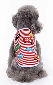고양이 개 티셔츠 조끼 강아지 의류 여름 자수 장식 귀여운 패션 캐쥬얼/데일리