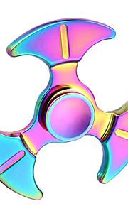 Mão spinner fidget brinquedo arco-íris colorido tri-spinner dedo brinquedo para autismo e adhd ansiedade estresse foco foco dom --- 1 pcs