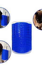 고양이 강아지 브러쉬 빗 마사지 블루
