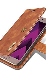Для Samsung Galaxy i7 (2017) j5 (2017) кейс обложка держатель карты кошелек с подставкой флип магнитный полный корпус сплошной цвет
