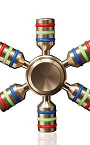 Fidget spinners Hilandero de mano Juguetes Six Spinner Latón EDCAlivia ADD, ADHD, Ansiedad, Autismo Por matar el tiempo Juguete del foco