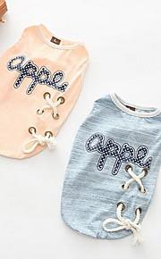 Dog Dress Dog Clothes Summer Princess Cute Fashion Casual/Daily Light Blue Blushing Pink