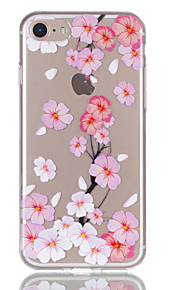 애플 아이폰 7 7 플러스 6s 6 플러스 케이스 커버 복숭아 꽃 패턴 릴리프 tpu 소재 퇴색하지 않습니다 전화 케이스