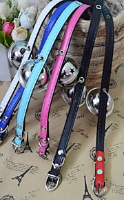 Collares de las campanas del animal doméstico collares adorables de las collares de la PU de los perros