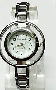 Жен. Женские Часы со скелетом Наручные часы Часы-браслет Китайский Кварцевый сплав Группа Блестящие С подвесками ПовседневнаяСеребристый