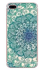애플 아이폰 7 7 플러스 6s 6 플러스 케이스 커버 파란색과 흰색 패턴 hd 페인트 tpu 소재 소프트 케이스 전화 케이스