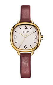Women's Fashion Watch Japanese Quartz Water Resistant / Water Proof Leather Band Black White Blue Red Grey
