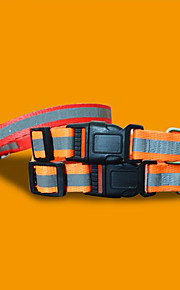 Collar Portable Foldable Adjustable With Bell Color Block Nylon Random Color
