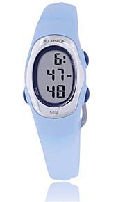 Mulheres Relógio Esportivo Digital Impermeável Borracha Banda Azul Verde Roxa