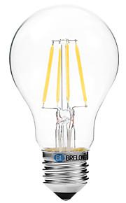 4W Lampadine LED a incandescenza A60(A19) 4 COB 300 lm Bianco caldo Bianco V 1 pezzo