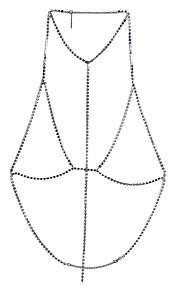 Dame Kropssmykker Krops Kæde / mavekæde Natur Venskab Vintage Boheme Stil Håndlavet Gotisk Movie smykker Sølv Geometrisk form Smykker For