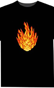 LED-T-shirts 100% Bomuld 2 AAA Batterier