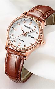 Mulheres Relógio de Moda Japanês Quartzo Calendário Impermeável Couro Banda Brilhante Preta Branco Vermelho Marrom Rosa Roxa