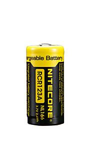 2stk nitecore nl166 650mAh 3.7V 2.4wh 18650 li-ion genopladeligt batteri
