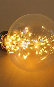 3W E27 LED-globepærer G125 48 Integrert LED 250 lm Varm hvit Dekorativ AC 220-240 V 1 stk.