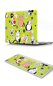 For MacBook Air 11 13 Pro Retina 13 15 Macbook 12 Case Cover PVC Material Cartoon Animal with US Silicone Keyboard Protector