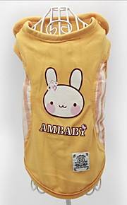 Dog Vest Dog Clothes Casual/Daily Cartoon Red Yellow