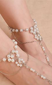 Dame Ankel/Armbånd Imiteret Perle Mode Blomstformet Smykker For Daglig Afslappet 1 Stk.