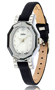 Women's Fashion Watch Japanese Quartz Water Resistant / Water Proof Leather Band Black Brown Pink Yellow