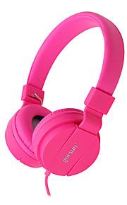 gorsun gs-778 taitettava stereo johto kuulokeliitäntä 3.5mm venyttämällä musiikkia kuulokkeilla kuuloke Tietokone puhelimet tabletteja
