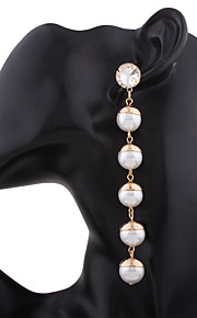 Women's Drop Earrings Dangling Style Chrome Single Strand Jewelry ForWedding Party Special Occasion Anniversary Party/ Evening Dailywear