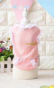 Dog Vest Dog Clothes Cute Fashion Casual/Daily Lace Blushing Pink White