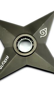 Fidget Spinner Inspirado por Naruto Naruto Uzumaki Animé Accesorios de Cosplay Cromado metal