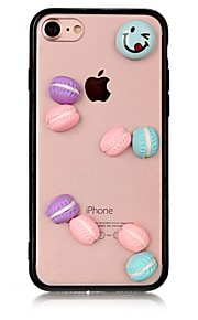 사과 아이폰 7 7 플러스 아이폰 6s 6 플러스 케이스 아크릴 케이스 쿠키 패턴 커버
