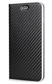 아이폰 7 플러스 7 케이스 커버 카드 홀더 플립 마그네틱 전신 케이스 아이폰 6 플러스 6s 5s 단색 하드 폴리 우레탄 가죽