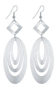 Dame Dråbeøreringe Smykker Hængende Geometrisk Mode Vintage Boheme Stil minimalistisk stil Elegant Sølvbelagt Guldbelagt LegeringOval
