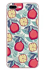 애플 아이폰 7 7 플러스 6s 6 플러스 케이스 커버 과일 패턴 hd 페인트 tpu 소재 소프트 케이스 전화 케이스