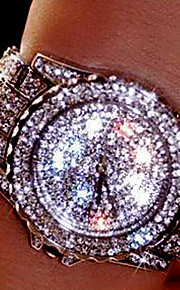 Mulheres Casal Relógio Elegante Relógio de Moda Relógio de Pulso Bracele Relógio Único Criativo relógio Simulado Diamante Relógio Quartzo