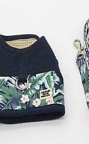 Harness Leash Adjustable Solid Polka Dot Fabric