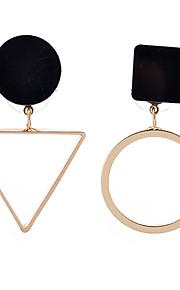 Fashion Elegant Popular Plated Gold/Silver Triangle Round Geometry Irregular Earrings For Women Luxury Statement Pendant Earrings Female Jewelry